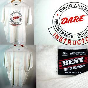 Vintage Dare Instructor T-Shirt D.A.R.E. Drugs XL